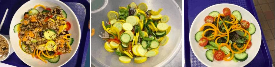 Courgette, squash and Quinoa salad!
