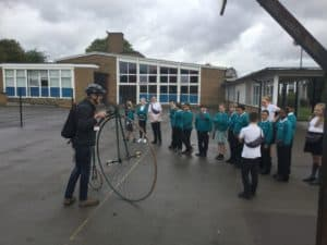 Y6 investigate Penny Farthing!