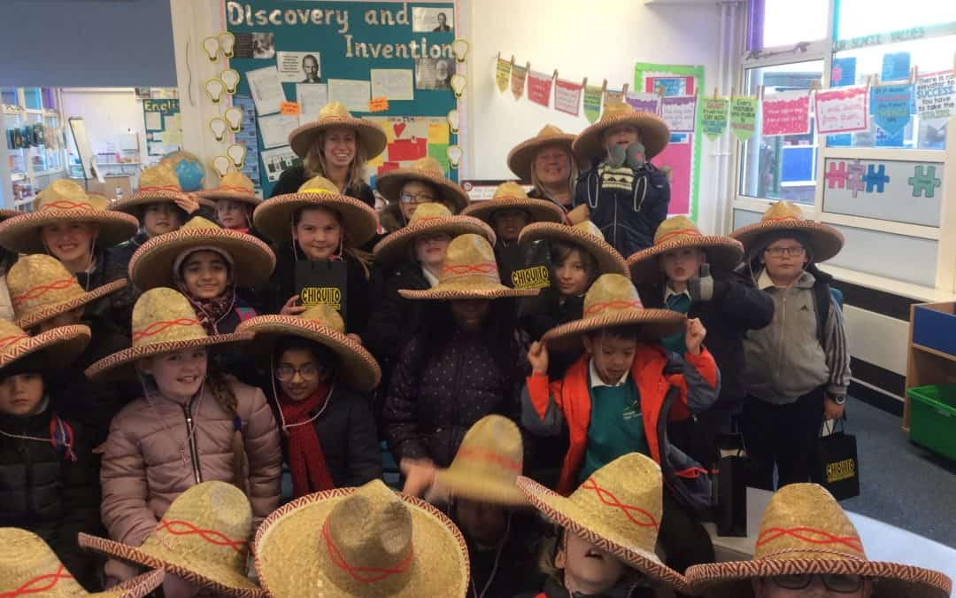 Year Four's Burrito Making Workshop at Chiquitos