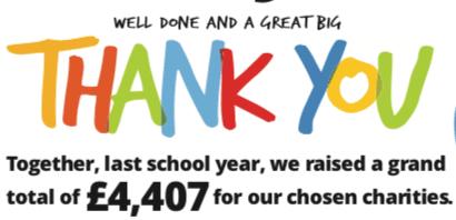 We raised £4,407!