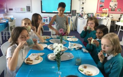 Afternoon tea in Year 5