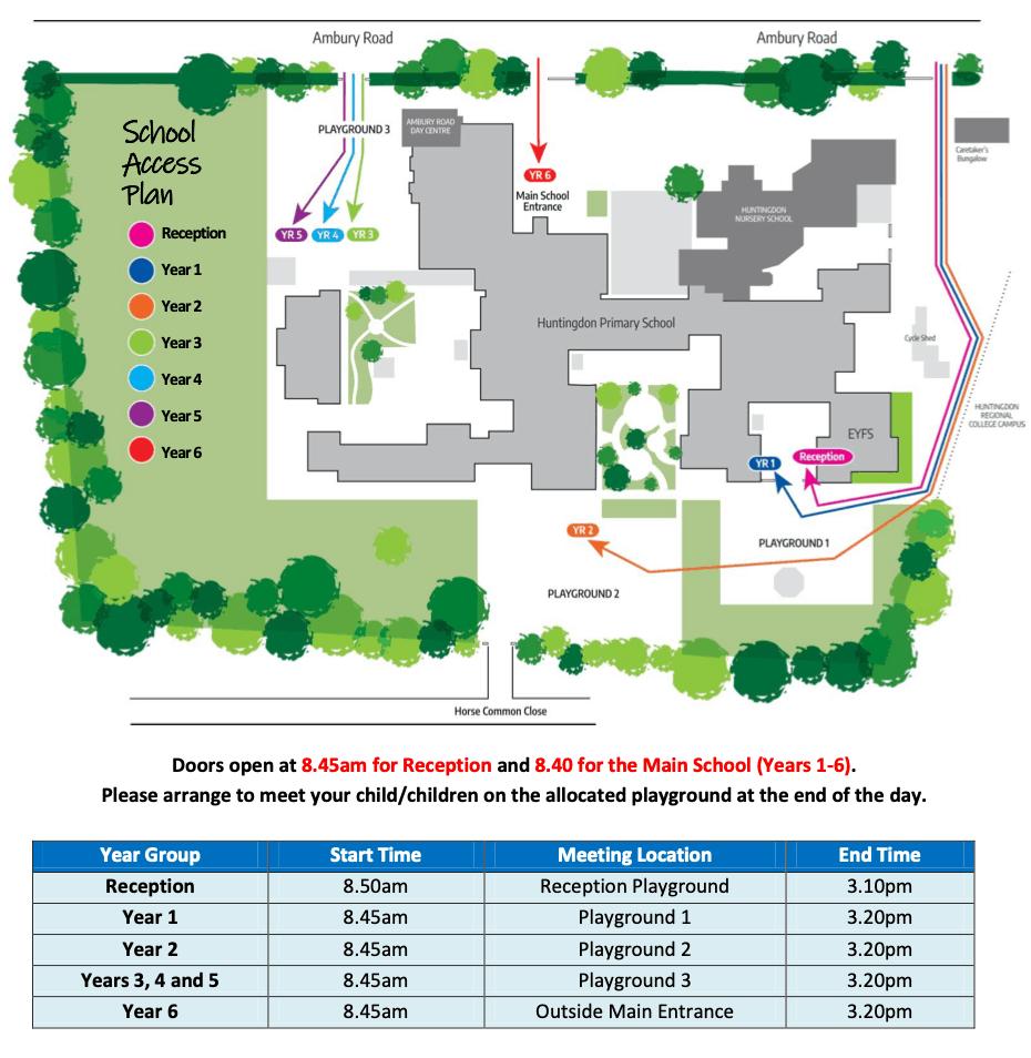 Map of entrances